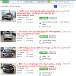 Đăng tin bán xe ô tô cũ lên các website
